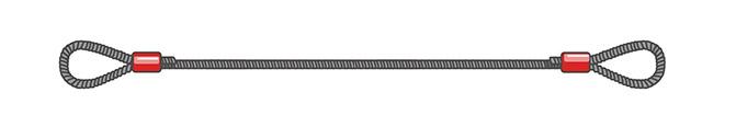 Метод опрессовки алюминиевой втулкой из черного каната (УСК1)
