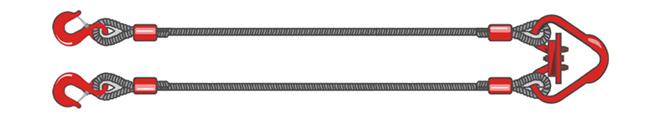 Двухветвевой строп канатный 2СК