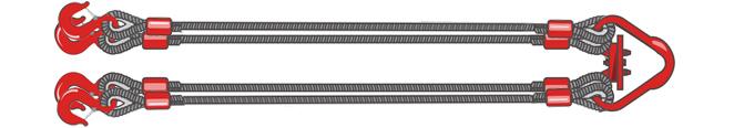 Четырехветвевой строп канатный 4СК