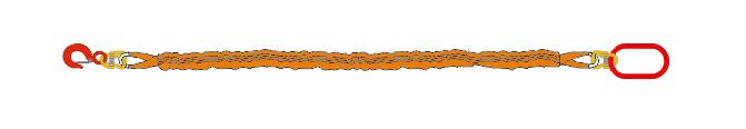 Одноветьевой строп текстильный круглопрядный (1CТк)