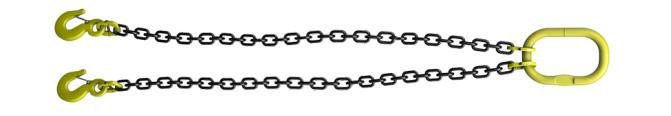 Двухветьевой строп цепной 2СЦ