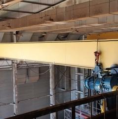 Компания ООО «Грузоподъемспецтехника-Находка» провела в г. Фокино демонтаж и монтаж несущей балки мостового опорного взрывобезопасного крана грузоподъемностью 3,2, длина несущей балки 19,5м;