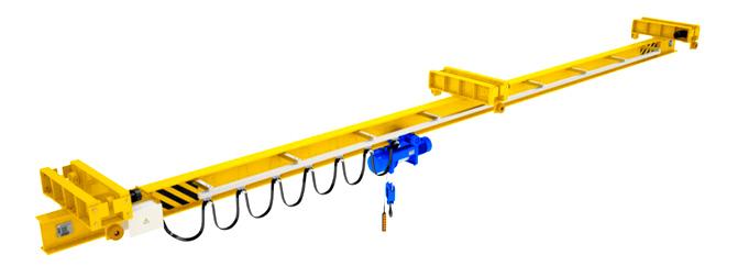 Кран мостовой подвесной однобалочный двухпролетный