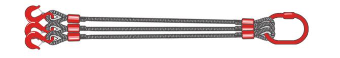 Трехветвевой строп канатный 3СК
