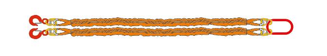 Двухветьевой строп текстильный круглопрядный (2CТк)