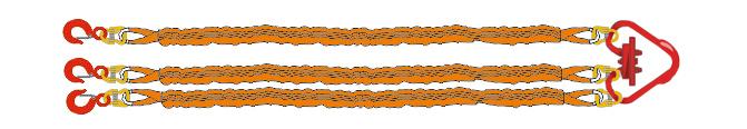 Трехветьевой строп текстильный круглопрядный (3CТк)